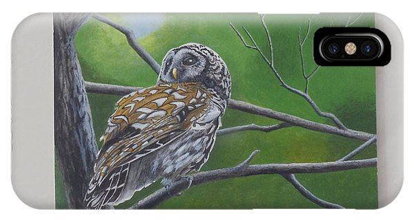 Barred Owl Phone Case by James Lawler