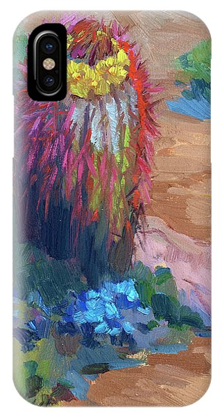 Lutheran iPhone Case - Barrel Cactus In Bloom by Diane McClary