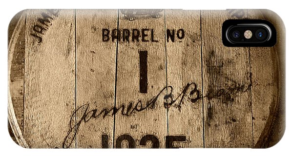 Whiskey iPhone Case - Barrel No. 1 by Karen Varnas