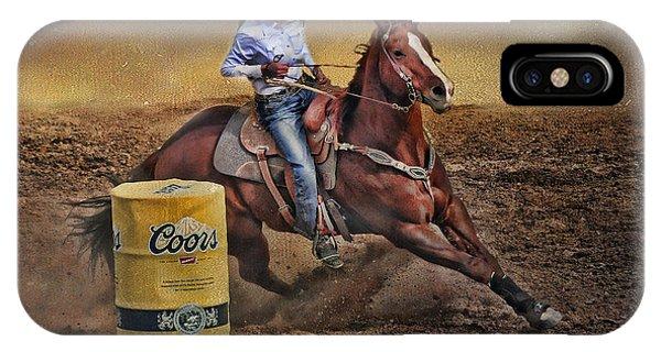 Barrel-rider Cowgirl IPhone Case