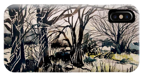 Barren iPhone Case - Barren Wood by Mindy Newman