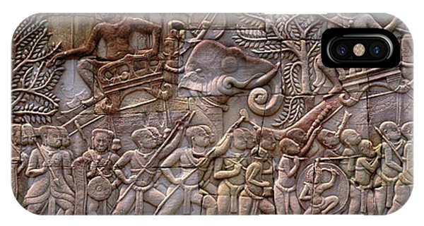 Bas Relief Angkor Wat Cambodia IPhone Case