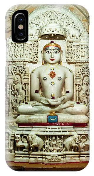 Bas Relief Jain Temple Golden Sandstone IPhone Case