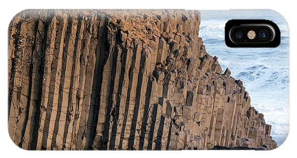 Basalt iPhone Case - Basalt Columns On Beach by Dr Juerg Alean