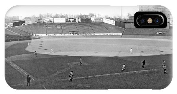 Yankee Stadium iPhone Case - Baseball At Yankee Stadium by Underwood Archives