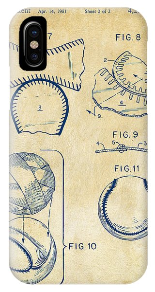 Diy iPhone Case - Baseball Construction Patent 2 - Vintage by Nikki Marie Smith