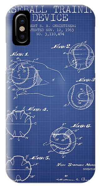 Baseball Cover Patent From 1963- Blueprint IPhone Case