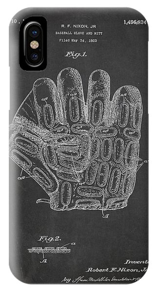 Baseball Glove Patent Drawing From 1923 IPhone Case