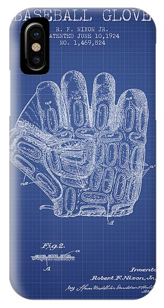 Baseball Glove Patent From 1924 - Blueprint IPhone Case
