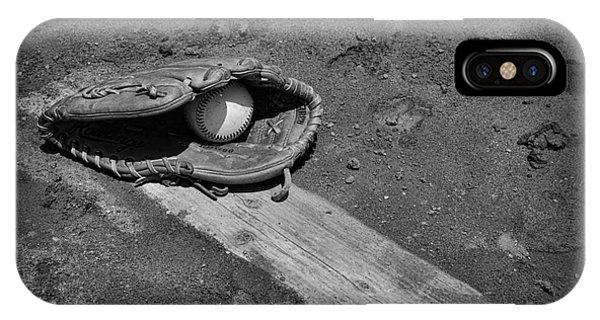 Baseball Pitchers Mound In Black And White IPhone Case