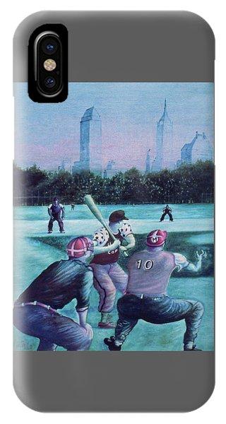 New York Central Park Baseball - Watercolor Art IPhone Case