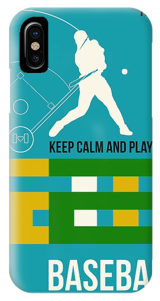 Quote iPhone Case - Baseball Poster by Naxart Studio