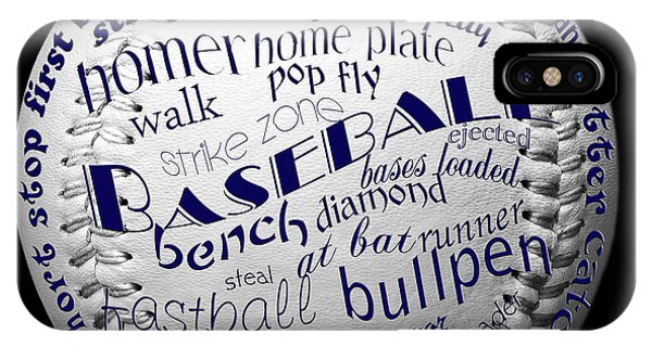 Baseball Terms Typography 2 IPhone Case