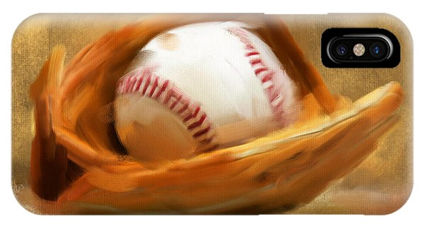 American iPhone Case - Baseball V by Lourry Legarde