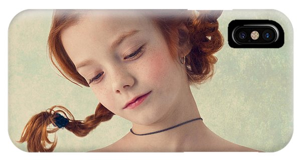 Red Hair iPhone X Case - Based On Botticelli by Svetlana Melik-nubarova