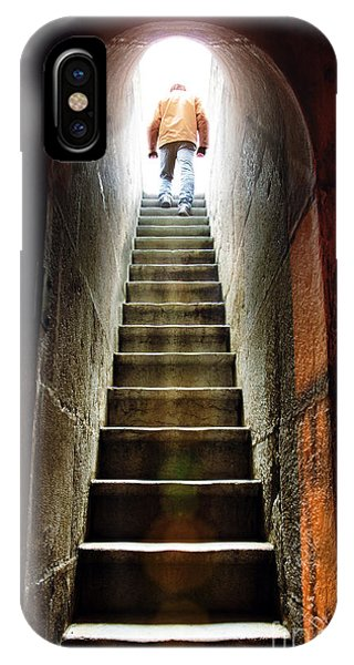 Dungeon iPhone X Case - Basement Exit by Carlos Caetano