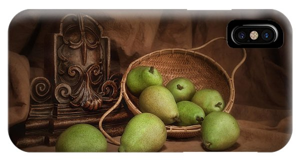 Pear iPhone Case - Basket Of Pears Still Life by Tom Mc Nemar