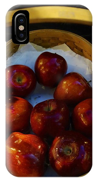 Basket Of Red Apples IPhone Case