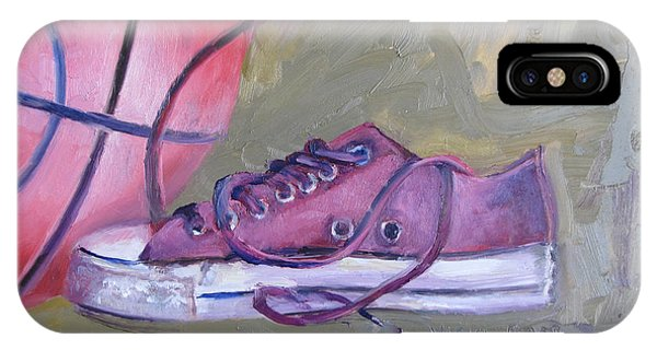 Basketball In Purple Chucks IPhone Case