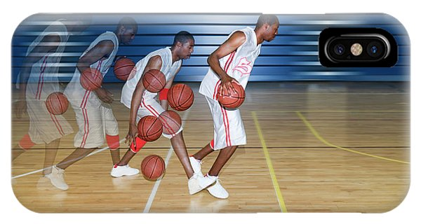 Eye Ball iPhone Case - Basketballer Dribbling by Gustoimages/science Photo Library