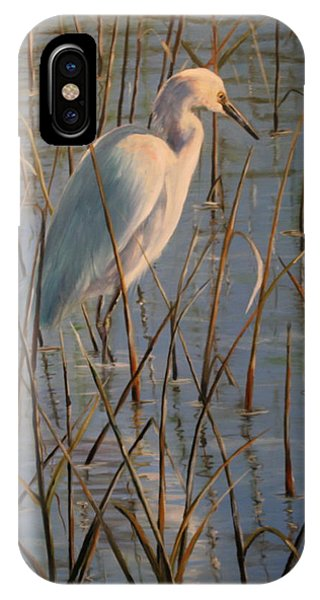 iPhone Case - Basking Egret by Karen Langley