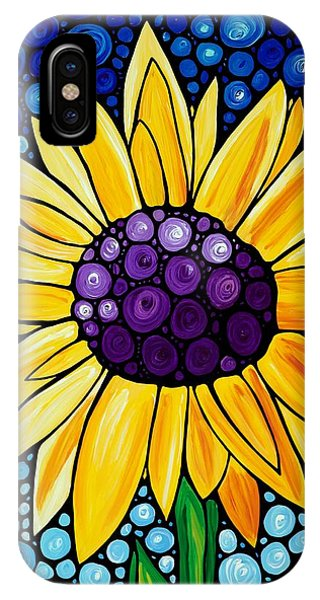 Yellow Flowers iPhone Case - Basking In The Glory by Sharon Cummings