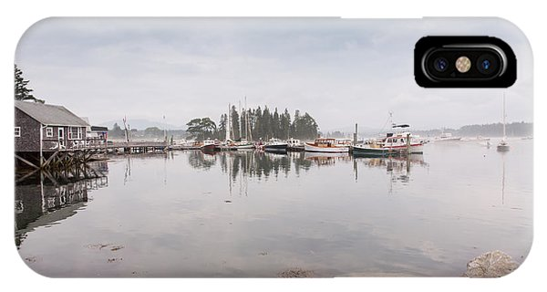 Bass Harbor In The Morning Fog IPhone Case
