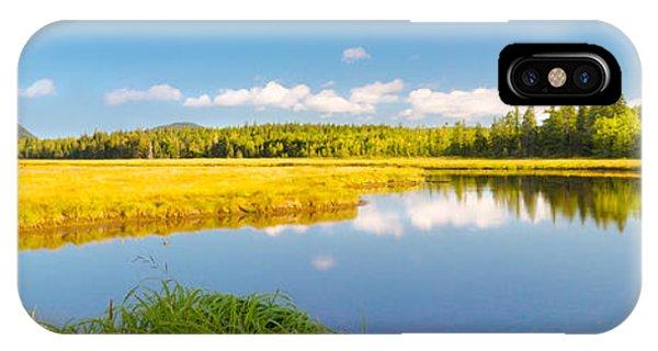 Bass Harbor Marsh Panorama Acadia National Park Photograph IPhone Case