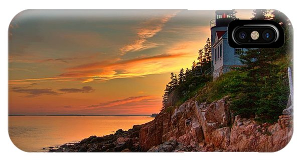 Bass Harbor Sunset Phone Case by Norm Hoekstra