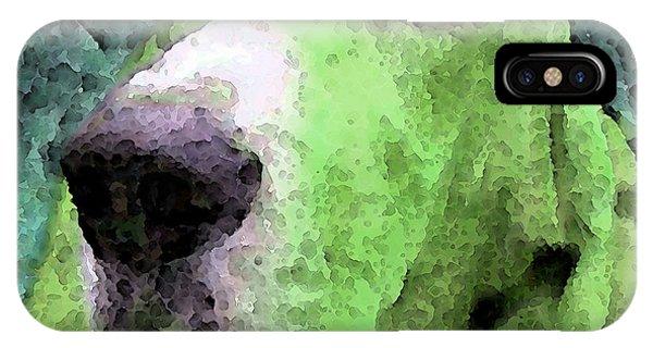 Soulful iPhone Case - Basset Hound - Pop Art Green by Sharon Cummings