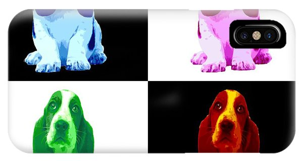 Basset Hound Puppy 4 Colors IPhone Case