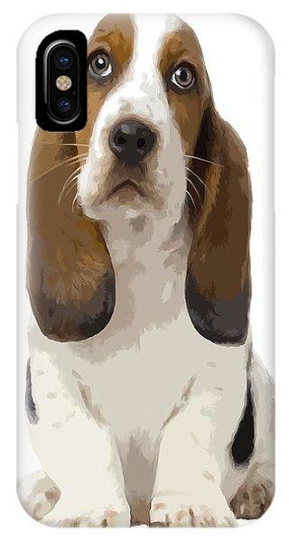 Basset Hound Puppy IPhone Case
