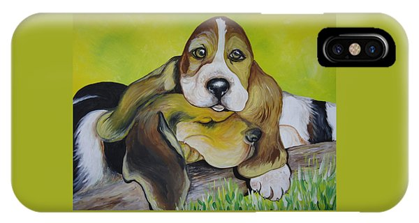 Bassett Hound Pups IPhone Case