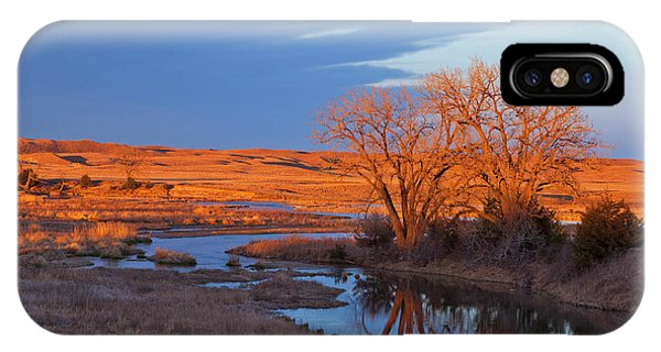 Nebraska iPhone Case - Bathed In Sunset Light The Calamus by Chuck Haney