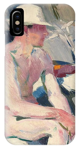 Sunbather iPhone Case - Bather In A White Hat by Francis Campbell Boileau Cadell