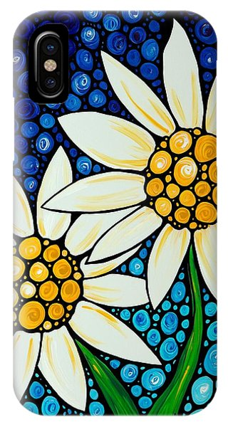 Daisy iPhone Case - Bathing Beauties - Daisy Art By Sharon Cummings by Sharon Cummings
