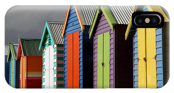 Bathing Huts IPhone Case