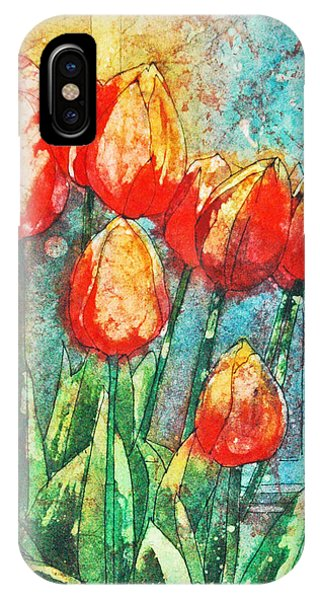 Batik Tulips IPhone Case