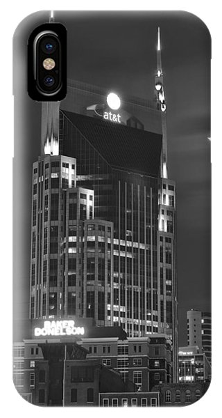 Inner World iPhone Case - Batman Building Complete With Bat Signal by Frozen in Time Fine Art Photography