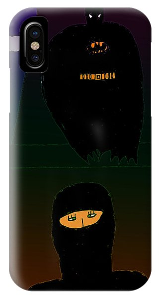 Batman-nocturnal E Phone Case by John Lavernoich