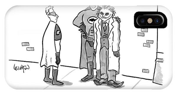 Batman, With His Arm Around The Joker, Speaking IPhone Case