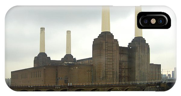 Railroad Station iPhone Case - Battersea Power Station - London by Mike McGlothlen