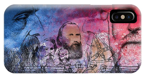 IPhone Case featuring the painting Battle Of Gettysburg Tribute Day One by Joe Winkler