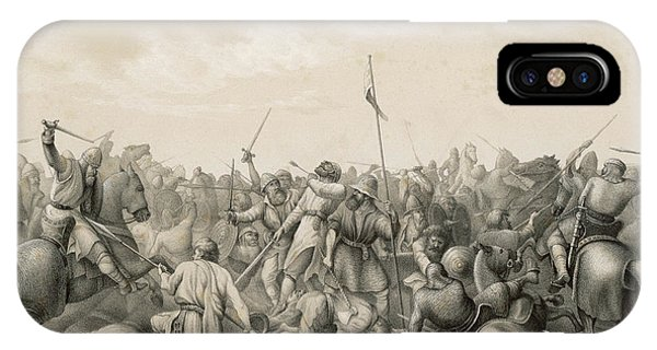 Stamford iPhone Case - Battle Of Stamford Bridge Harald by Mary Evans Picture Library
