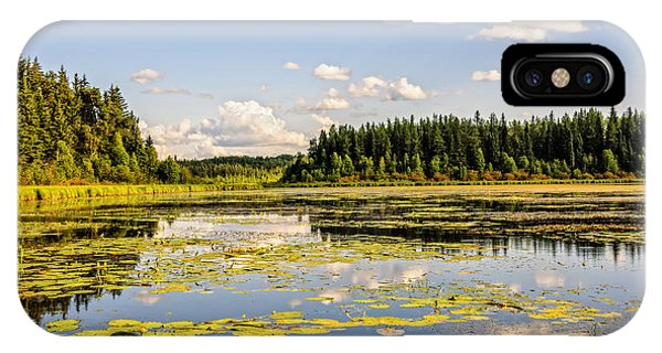 iPhone Case - Bay At The Waskesiu Lake With Lily by Viktor Birkus