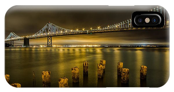 Bay Bridge And Clouds At Night IPhone Case