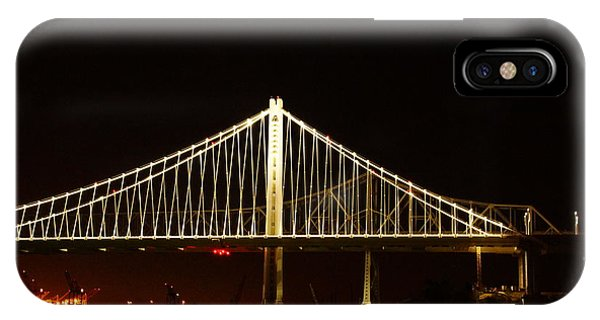Bay Bridge At Night IPhone Case