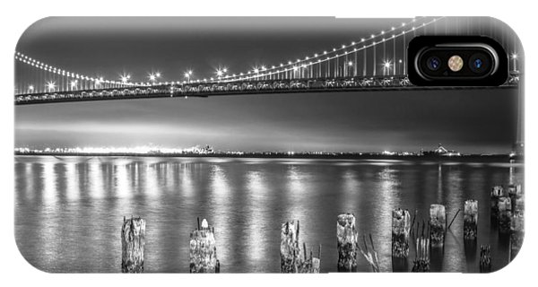 Bay Bridge Black And White IPhone Case