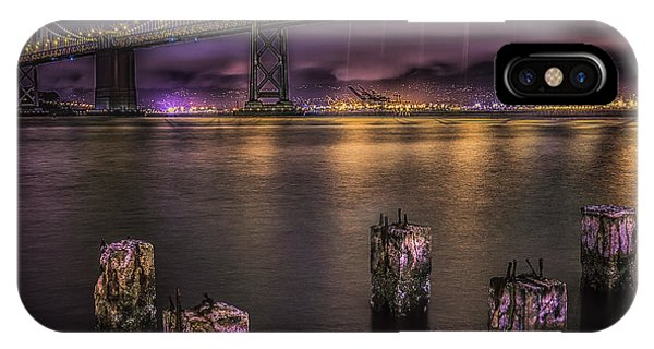 Bay Bridge Lights IPhone Case
