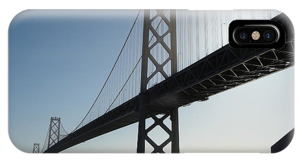 Bay Bridge Morning Phone Case by Mark Etchason